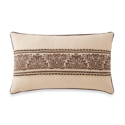 Waterford® Linens Aileen Pleated Oblong Throw Pillow