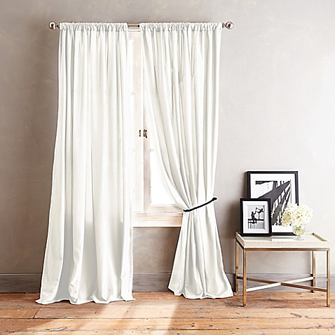 dkny city streets 108 inch window curtain panel in white bed bath beyond. Black Bedroom Furniture Sets. Home Design Ideas