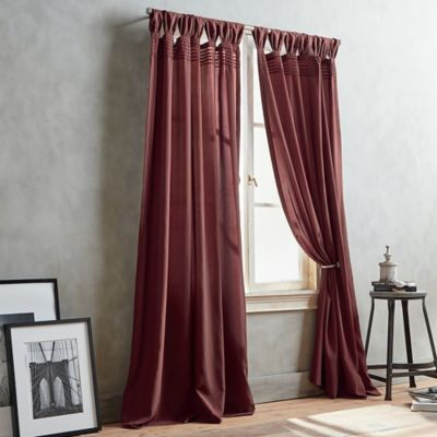 DKNY City Edition 63-Inch Window Curtain Panel in Berry