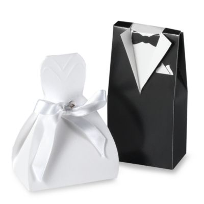 Wedding Dress Favor Boxes (Set of 2)