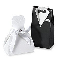 Tuxedo and Dress Favor Boxes