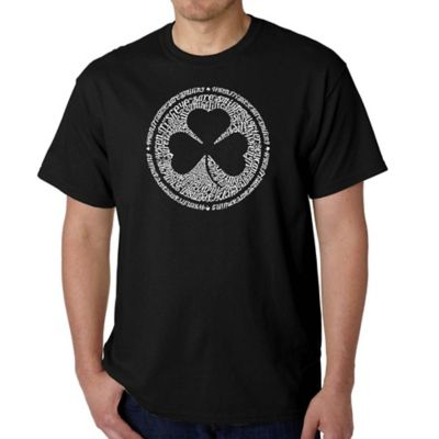 Men's Large Word Art Irish T-Shirt in Black