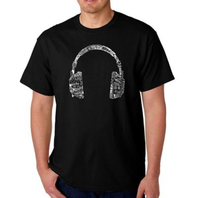 "Men's Word Art ""Language"" Small T-Shirt in Black"