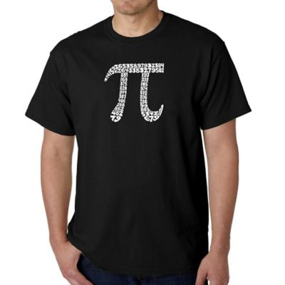 Men's Small Word Art First 100 Digits of Pi T-Shirt in Black