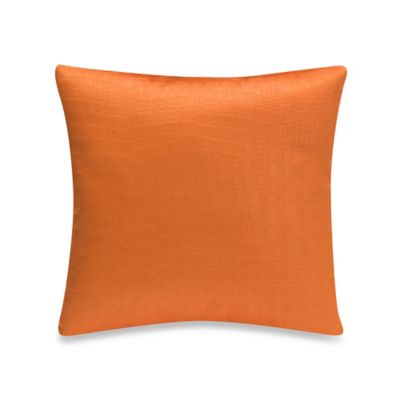 Glenna Jean Rhythm Square Throw Pillow in Orange