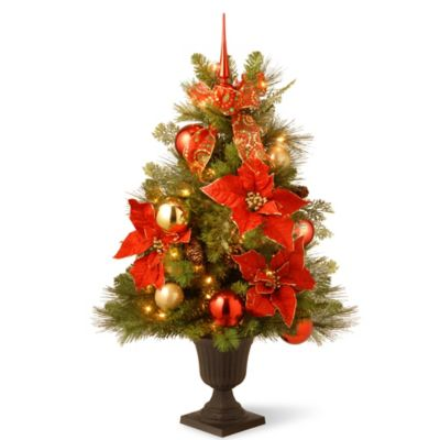 National Tree Home for the Holidays 3-Foot Pre-Lit Entrance Christmas Tree