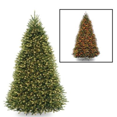 National Tree Dunhill Fir Hinged 9-Foot Pre-Lit Christmas Tree