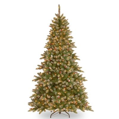 National Tree Glittery Mountain Spruce 4-Foot Pre-Lit Entrance Christmas Tree