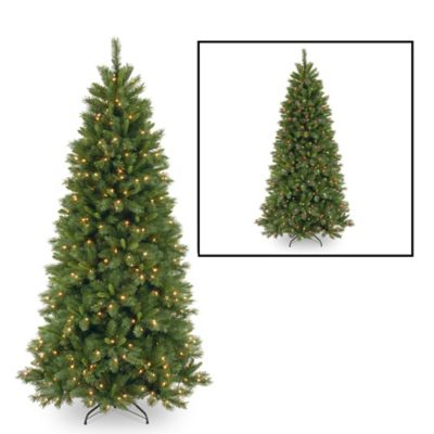 Slim Lighted Christmas Tree