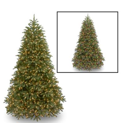 National Tree 7.5-Foot Feel-Real® Jersey Fraser Fir Pre-Lit Christmas Tree