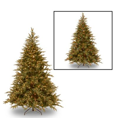 "National Tree ""Feel Real"" Frasier Grande Hinged 7-1/2-Foot Pre-Lit Christmas Tree"