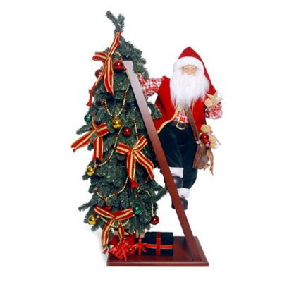 National Tree Plush Collection 42-Inch Santa and Tree with Lights