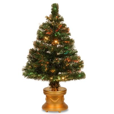 National Tree 32-Inch Fiber Optic Radiance Fireworks Christmas Tree