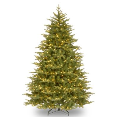 "National Tree ""Feel Real"" Nordic Spruce Medium Hinged 9-Foot Pre-Lit Christmas Tree"