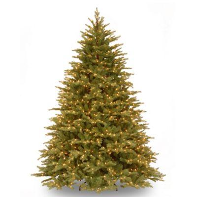 "National Tree ""Feel Real"" Nordic Spruce Hinged 7-1/2-Foot Pre-Lit Christmas Tree"