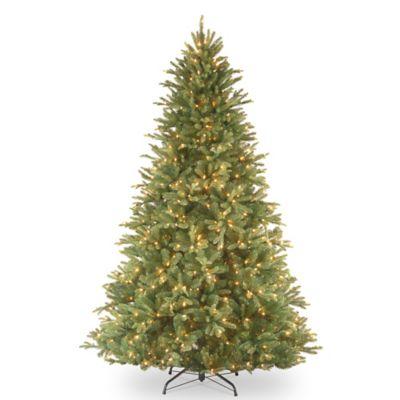 "National Tree ""Feel Real"" Tiffany Fir Hinged 7-1/2-Foot Pre-Lit Christmas Tree"