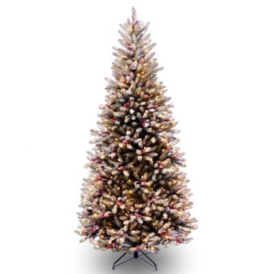 National Tree Slim Dunhill Fir Hinged 7-1/2-Foot Christmas Tree