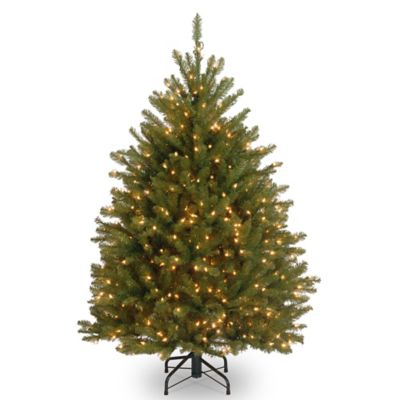 National Tree Dunhill Fir Hinged 4-1/2-Foot Christmas Tree
