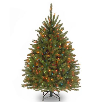 National Tree Dunhill Fir Multicolor Light 4-1/2-Foot Christmas Tree