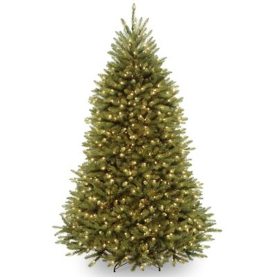 National Tree Dunhill Fir Hinged 6-1/2-Foot Clear Pre-Lit Christmas Tree