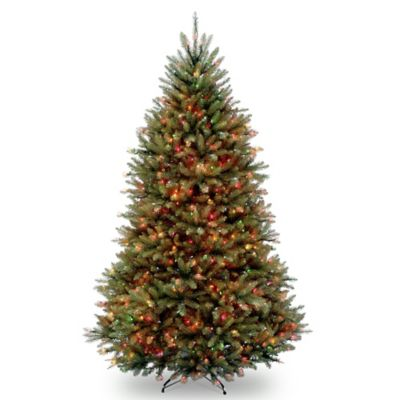 National Tree Dunhill Fir Hinged 6-1/2-Foot Pre-Lit Christmas Tree