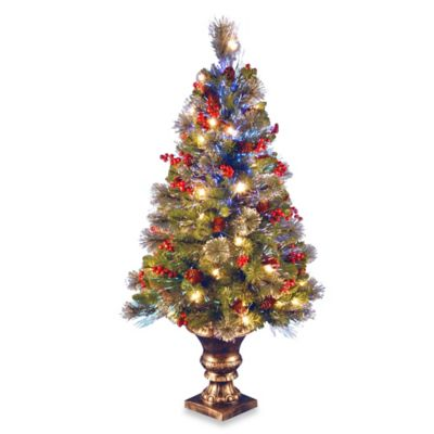 National Tree 48-Inch Fiber Optic Fireworks Crestwood Spruce Christmas Tree