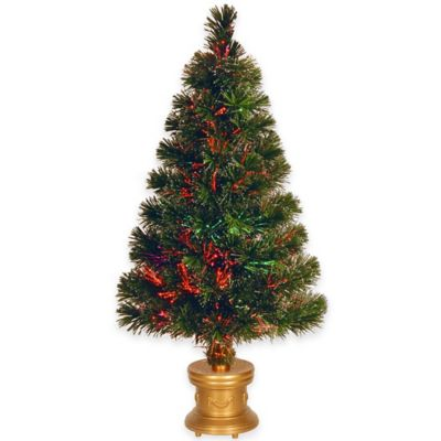 National Tree 32-Inch Fiber Optic Fireworks Evergreen Christmas Tree
