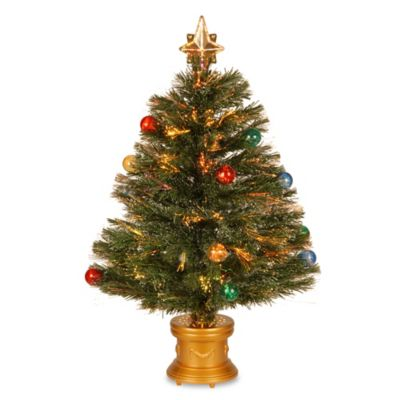 National Tree 32-Inch Fiber Optic Fireworks Christmas Tree
