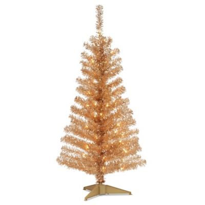 National Tree 4-Foot Tinsel Tree in Champagne