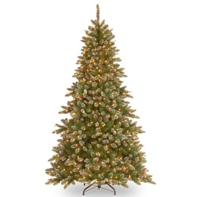 National Tree 7.5-Foot Slim Glittery Pine Christmas Tree