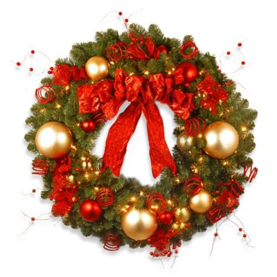 36 in Lighted Outdoor Wreaths