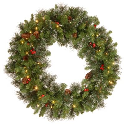 National Tree 30-Inch Crestwood Spruce Christmas Wreath