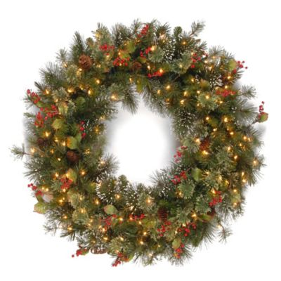 National Tree 42-Inch Wintry Pine Christmas Wreath