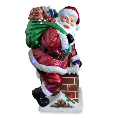 National Tree 46-Inch Pre-Lit Santa Claus Decoration