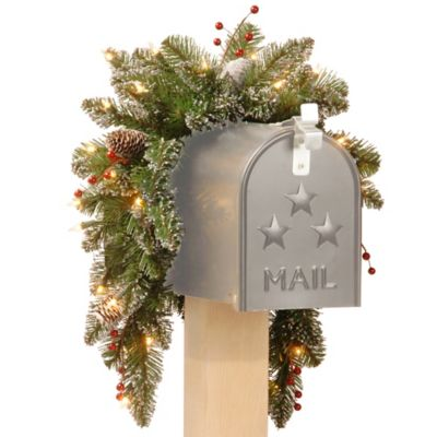 National Tree 36-Inch Mountain Spruce Mailbox Swag