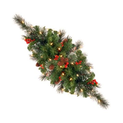 National Tree 30-Inch Crestwood Spruce Centerpiece Pre-Lit with 35 Lights