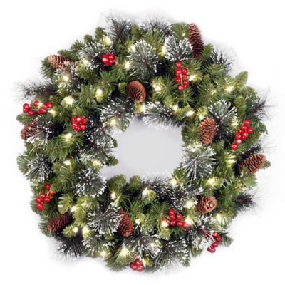 "National Tree 24"" Crestwood Spruce Christmas Wreath"