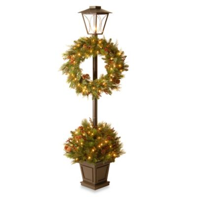 National Tree Decorative Collection 78-Inch Lantern Potted Bush