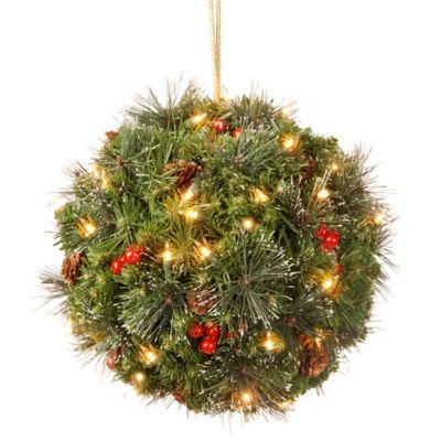 National Tree 16-Inch LED Crestwood Spruce Mistletoe Kissing Ball