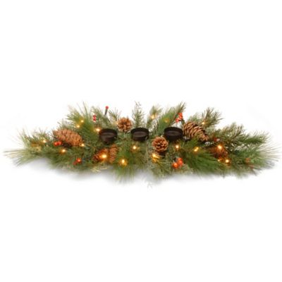 National Tree Decorative Collection 30-Inch White Pine Candle Holder Centerpiece