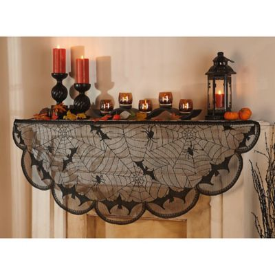 Bats and Spiders Mantel Scarf