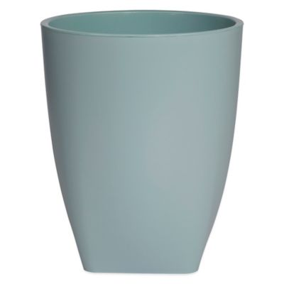 Quincy Wastebasket in Aqua