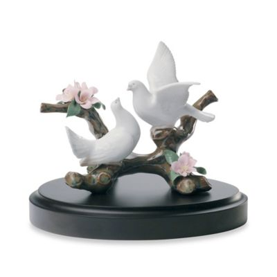 Lladro Doves on a Cherry Tree Figurine