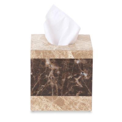 Montecito Marble Boutique Tissue Box Cover