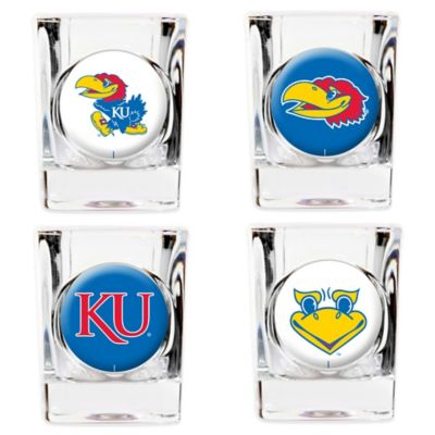 University of Kansas Shot Glasses (Set of 4)