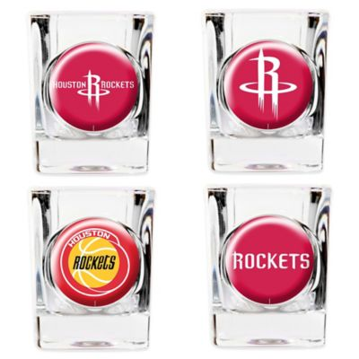 NBA Houston Rockets Shot Glasses (Set of 4)