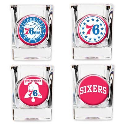 NBA Philadelphia 76ers Shot Glasses (Set of 4)