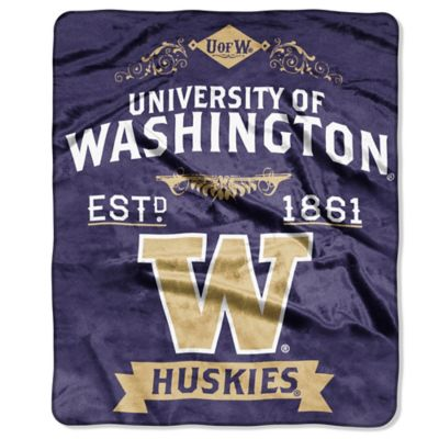 University of Washington Raschel Throw