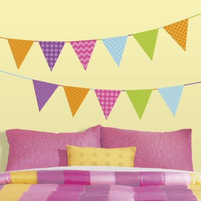 RoomMates Patterned Pennant Peel and Stick Wall Decals
