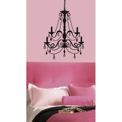 RoomMates Chandelier Wall Decal with Gems
